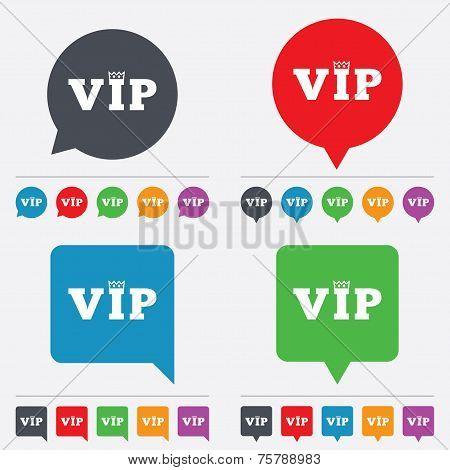 Vip sign icon. Membership symbol.