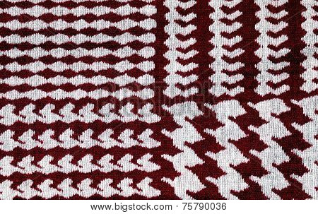 Red And White Houndstooth Pattern Textile Background