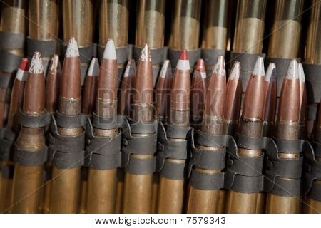 5.56x45mm Tracer Bullets Closeup