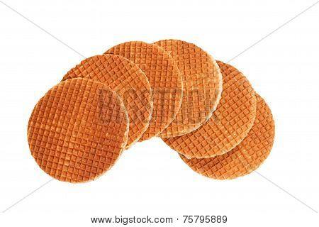 waffles isolated on white