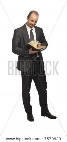 Businessman With Book