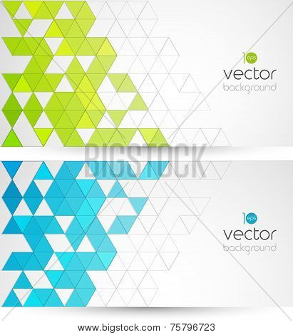 Abstract geometric background with color triangle