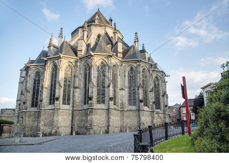 Saint Waltrude Church In Mons, Belgium.