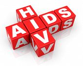 stock photo of hiv  - 3d generated picture of a HIV and AIDS concept - JPG