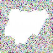 stock photo of harlequin  - Map of Nigeria  - JPG