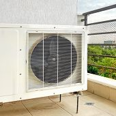 pic of hvac  - Outside Air Conditioner Installation on the Balcony Floor - JPG
