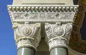pic of sevastopol  - marble columns carved capitals Vladimir Cathedral in Sevastopol - JPG