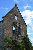stock photo of manor  - A large Victorian Manor House left in a derelict state due to a fire many decades past - JPG