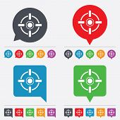 image of crosshair  - Crosshair sign icon of Target aim symbol - JPG