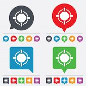foto of crosshair  - Crosshair sign icon of Target aim symbol - JPG