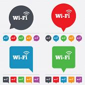 Постер, плакат: Free wifi sign Wifi symbol Wireless Network