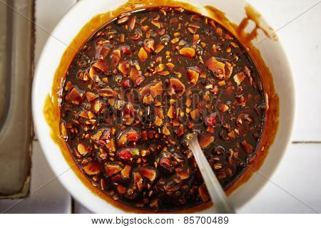 Mixture of spices including garlic, chili and soy sauce