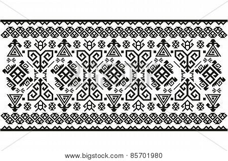 Vector background pattern old antique Turkish carpet Symbols
