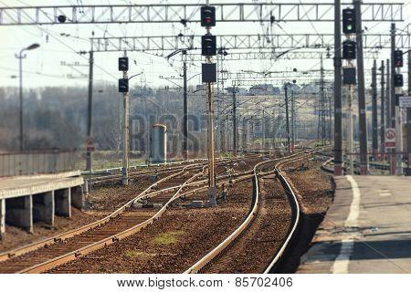 Spring Rails Of Railway