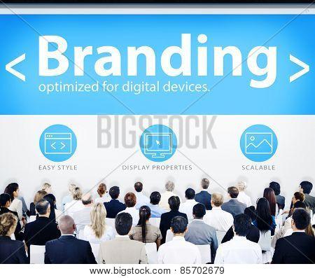 Business People Branding Seminar Concept