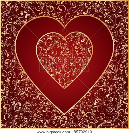 The Gold Heart from ornate elements