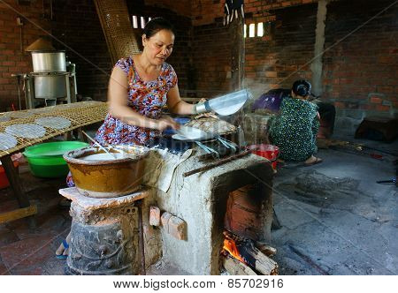 Asian Woman, Vietnamese Rice Paper