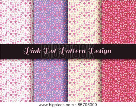 pink dot pattern design