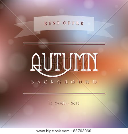 Creative abstract vector natural background