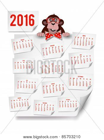 ?alendar By Month For 2016 Year Of The Monkey