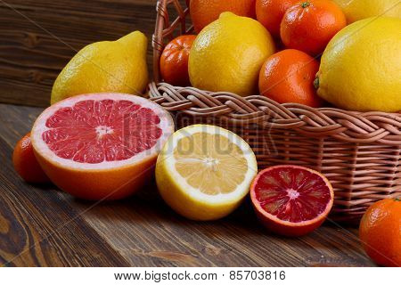 Citrus Fruits - Oranges, Lemons, Tangerines, Grapefruit