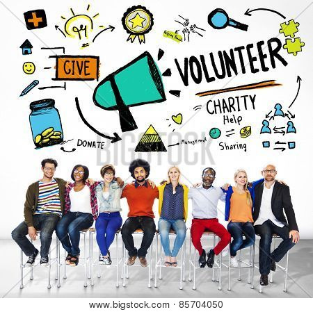 Volunteer Charity and Relief Work Donation Help Concept