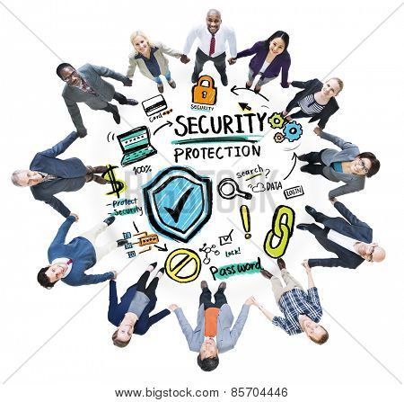 Ethnicity People Team Security Protection Support Concept