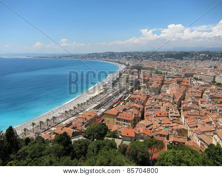 Bright sunny day in the city of Nice