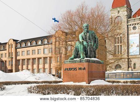 Helsinki. Finland. Aleksis Kivi Statue