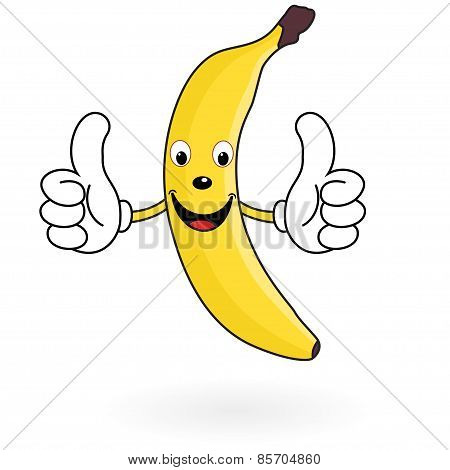 Happy Cartoon Banana