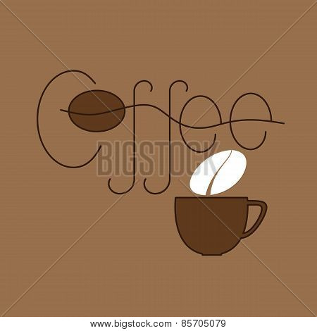 Coffee And Cup Logo Template
