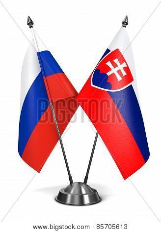 Slovakia and Russia - Miniature Flags.
