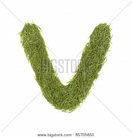 Green Alphabet, Letter V