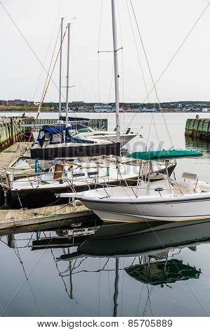Boats In Winter Marina
