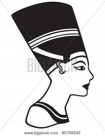 Silhouette Nefertiti