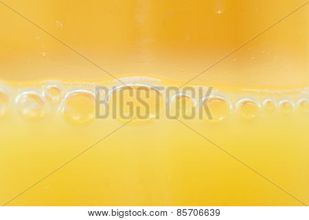 Macro Orange Juice