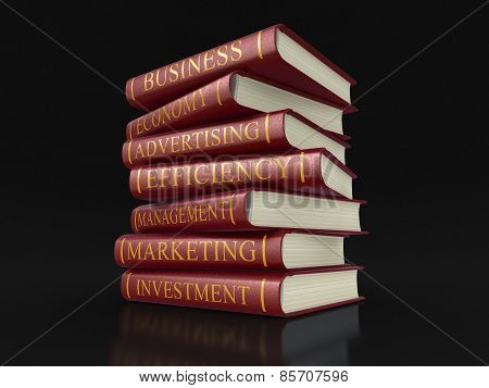 Business books (clipping path included)
