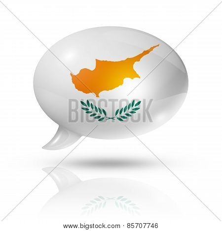 Cyprus Flag Speech Bubble