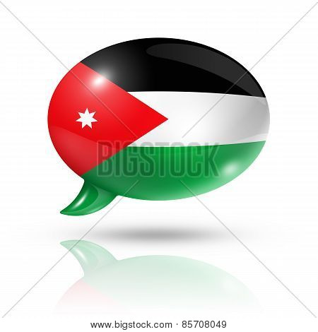 Jordanian Flag Speech Bubble