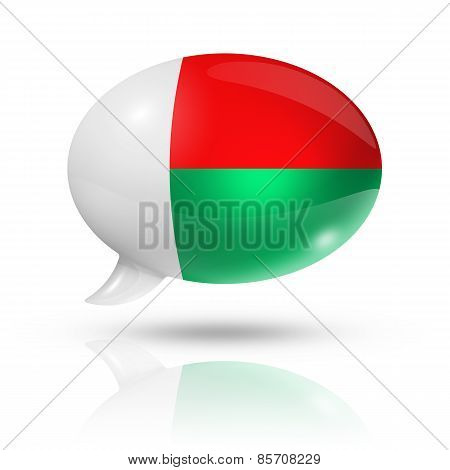 Madagascar Flag Speech Bubble