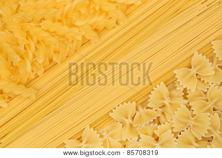 Noodles Pasta Spaghetti Penne Rigate Background