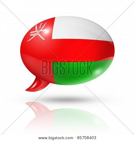 Oman Flag Speech Bubble