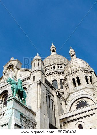 Sacre Coeur Basilica seen from below