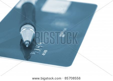 Credit Card With Pen