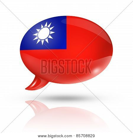 Taiwanese Flag Speech Bubble