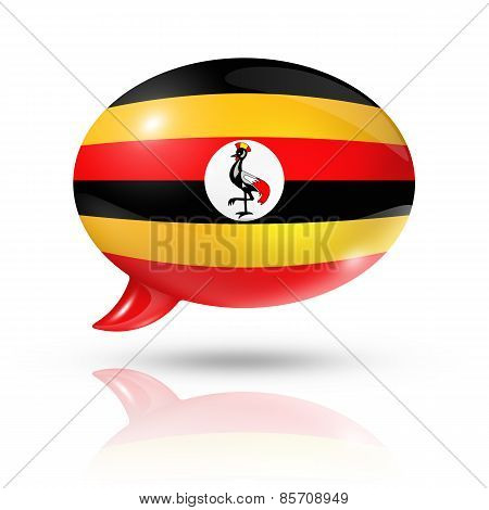 Ugandan Flag Speech Bubble