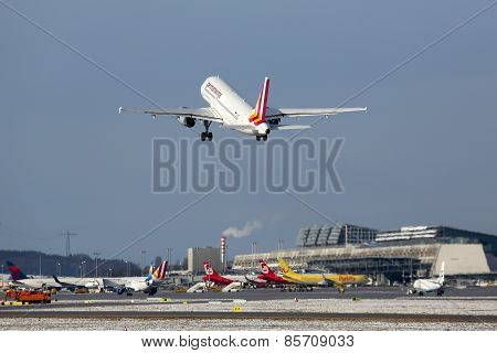 Germanwings Airbus A319 Airplane Stuttgart Airport
