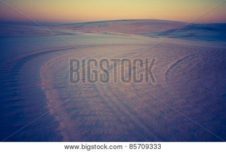 Vintage Photo Of Sand Dunes Landscape