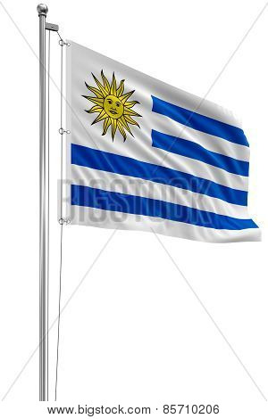3D Uruguayan flag
