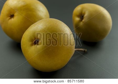 Pears On Black